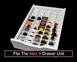 Knife And Fork Drawer Insert Eyeshadow Drawer Organizer Fits Alex 9 Drawer Unit Makeup