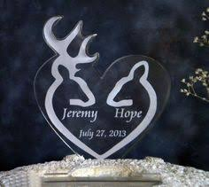 buck and doe cake topper deer buck doe heart facing each other wedding cake topper