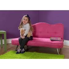 Girls Bedroom Chairs Loungers Rose Junior Microfiber Sofa Lounger Pink Walmart Com