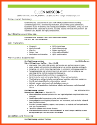 Resume Examples For Nursing Assistant by Nurse Aide Resume Examples Resume Format Download Pdf 10