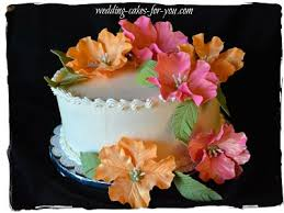 Tropical Themed Wedding Cakes - wedding cake gallery and wedding cake testimonials