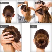 qy 3pcs hair mesh chignon donut to make the most