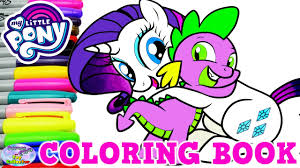 my little pony color book my little pony coloring book rarity spike the dragon mlp surprise