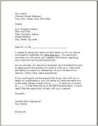 Follow Up Letter After Sending Resume Cover Letter For Cv Sent After Phone Conversation Huanyii Com