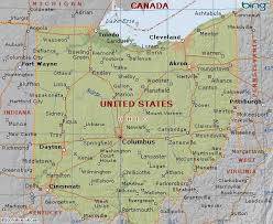 ohio on the map of usa map of ohio state usa