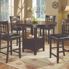 lavon 5 piece counter table and chair set in cappuccino atlanta