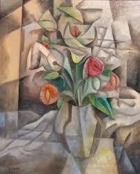 cubism flower painting brian hinkle paintings