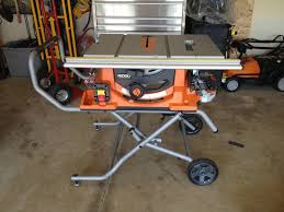ridgid table saw miter gauge ridgid r4510 review portable table saw