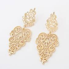 golden earrings 2016 new hot high quality heat 1 pair vintage retro silver alloy