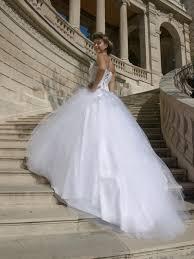 robe de mariã e princesse dentelle robe de mariee princesse jupe en tulle lisse et bustier dentelle