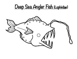 monster fish deep sea coloring pages color luna