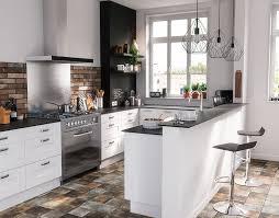 castorama cuisine kadral blanc une cuisine de caractère