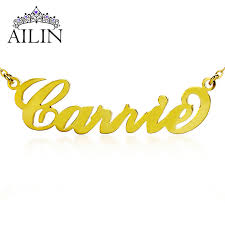 customized name necklace freeshipping personalized name necklace gold plated silver