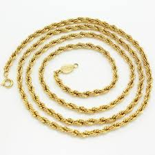 rope necklace chains images Vintage signed napier polished goldtone rope chain necklace jpg