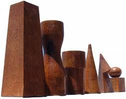 Futuristic Chess Set Geometric 50cm Chess Pieces Stunning Outdoor Garden Chess Set