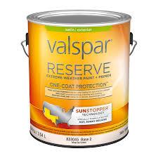 shop valspar reserve sun stopper satin latex exterior paint