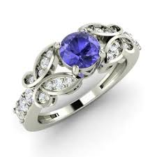tanzanite wedding rings bernice engagement ring with tanzanite si 0 8