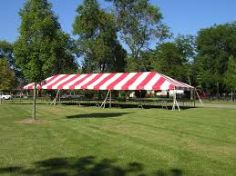Striped Canopy by Tenting General Rental