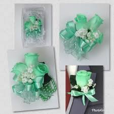 mint green corsage new artificial mint corsage mint s corsage mint