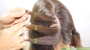 hair braid across back of head 3 ways to make a crown braid wikihow