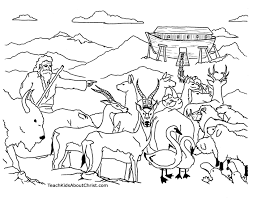 Delightful Ideas Noah Coloring Page Ark Pages Printable Childrens Children S Tree Coloring Pages