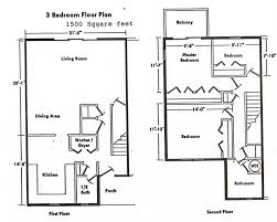3 Bedroom 2 Story House Plans Three Bedroom Two Bathroom House Plans