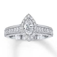 marquise diamond engagement ring jared diamond engagement ring 1 ct tw marquise 14k white gold