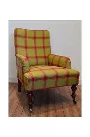 Victorian Armchairs Antiques Armchairs Victorian Armchair Check Fabric Tartan