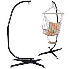Hammock Swing With Stand Solid Steel C Hammock Frame Stand Hammocks Outdoor Living