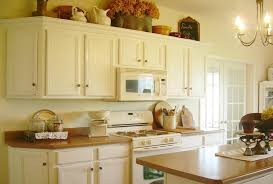 interesting distressed kitchen cabinets with green distressed
