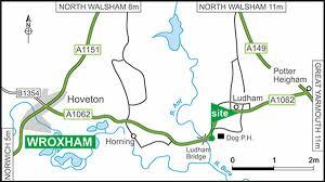 Norfolk Zip Code Map by Norfolk Broads Club Site The Caravan Club