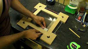 picture frame box corner clamps four blocks with picture frame box corner clamps four blocks with rubber bands youtube