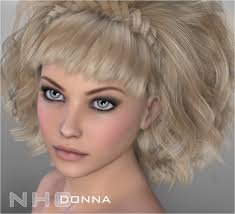 donna hair nhc expansion donna hair 3d figure assets p3d