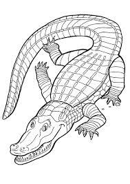 Un crocodile ouvrant sa bouche à colorier  Crafts  printables