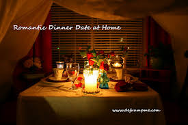 Home Dinner Ideas Romantic Dinner Date At Home Make A Tent Out Of White Sheets In