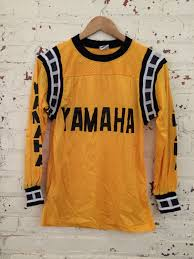 motocross jersey lettering vintage yamaha motorcross jersey size small by happypigvintage