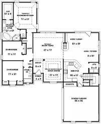 4 Bedroom House Plans 1 Story Plain 4 Bedroom 3 Bath House Plans 2075 Square Foot Home 1 Story