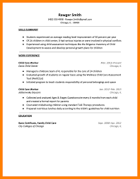 Resume Examples For Daycare Worker by Daycare Resume Samples Objective Child Care Resume Printable Child
