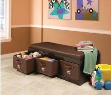 Childrens Storage Ottoman Toy Boxes In Color Brown Gender Boys U0026 Girls Ebay