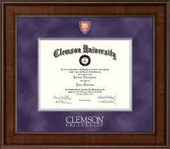 clemson diploma frame clemson presidential shield masterpiece diploma frame