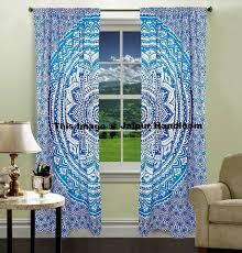 Cotton Curtains And Drapes Mandala Hippie Tapestry Curtains U0026 Window Door Drapes Valances 3