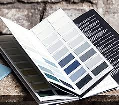 paint library colour card180 colours in chalky flat emulsion