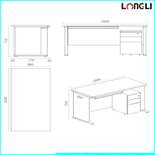 Standard Drafting Table Size Standard Desk Height Size Of Home Typical Reception Desk