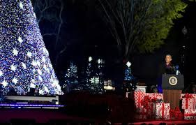 national christmas tree lighting 2016 crowd chants four more years as o the daily caller