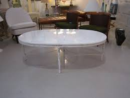 shabby chic oval coffee table with marble top at 1stdibs