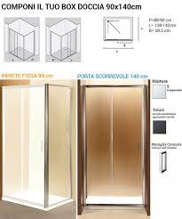 parete fissa doccia idroplus box doccia 90x140 cm con parete fissa 90 cm e porta