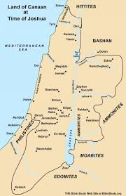 land of canaan at the time of joshua map