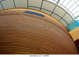 curved wood wall slat wall stock photos slat wall stock images alamy