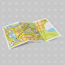 map paper paper map booklet on grey background vector image 28502 rfclipart