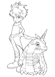 digimon cool pose partner digimon coloring pages